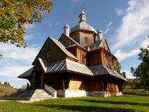 härligt kyrkligt ortodoxt Bieszczady Royaltyfria Bilder