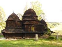 härligt kyrkligt ortodoxt Bieszczady Arkivfoto