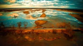 härligt landskap arkivfoton