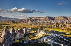Härligt landskap av den Cappadocia dalen Fotografering för Bildbyråer