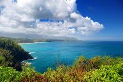 Härligt landskap av den Kauai ön Royaltyfria Bilder