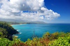Härligt landskap av den Kauai ön Royaltyfri Foto