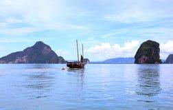 Härligt landskap av den Phang Nga nationalparken Fotografering för Bildbyråer