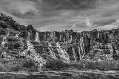 Härligt landskap av den Pongour vattenfallet, Vietnam Arkivfoton