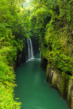 Härligt landskap av den takachiho klyftan och vattenfallet i Miyazaki Arkivbilder
