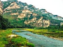 Härligt landskap av den unika naturen i Shidu naturvårdsområde Arkivbilder