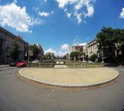 Härligt landskap av en del av staden Royaltyfri Foto