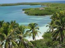 Härligt landskap av en karibisk paradisö arkivfoton