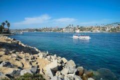 Härligt landskap av en strand Royaltyfria Bilder