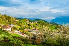 Härligt landskap av ett byggt område Royaltyfri Foto