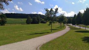 Härligt landskap av ett tyskt grönt utrymme arkivfoton