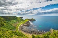 Härligt landskap av klippor i Irland, august 2016 Arkivbild