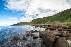 Härligt landskap av klippor i Irland, august 2016 Royaltyfria Bilder