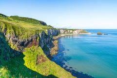 Härligt landskap av klippor i Irland, august 2016 Fotografering för Bildbyråer