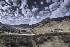 Härligt landskap av lantliga England abstrakt natur royaltyfri bild
