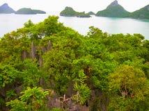 Härligt landskap av Mu Ko Ang Thong National Marine Park Royaltyfria Bilder
