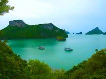 Härligt landskap av Mu Ko Ang Thong National Marine Park Royaltyfri Fotografi