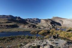 Härligt landskap av Patagonia Royaltyfri Bild