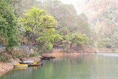 Härligt landskap av Sattal sjön Royaltyfri Bild