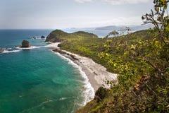 Härligt landskap av stranden för Los Frailes in royaltyfri bild