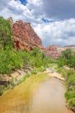 Härligt landskap av Zion National Park, Utah, USA Royaltyfri Bild