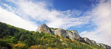 Härligt landskap för naturpanoramaberg Royaltyfri Fotografi
