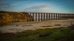 Härligt landskap Fort Bragg Kalifornien Arkivfoto