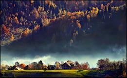 Härligt landskap från Pestera kli Rumänien royaltyfri bild