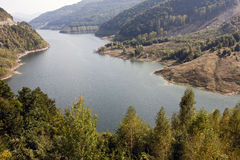Härligt landskap från Siriu sjön Fotografering för Bildbyråer