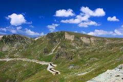 Härligt landskap från Transalpina Royaltyfri Fotografi