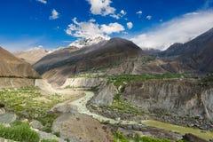 Härligt landskap Gilgit Arkivfoton