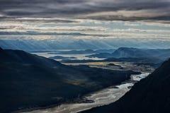 Härligt landskap i Alaska Arkivbilder