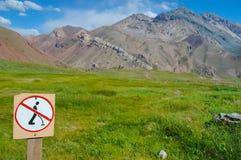 Härligt landskap i Anderna Arkivbilder
