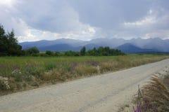Härligt landskap i det Fagaras området i Rumänien Arkivfoton