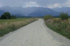 Härligt landskap i det Fagaras området i Rumänien Royaltyfri Fotografi