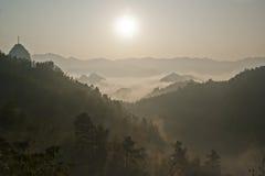 Härligt landskap i det Ziyuan länet, Guangxi, Kina Arkivfoton