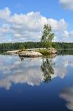Härligt landskap i Finland Arkivbilder