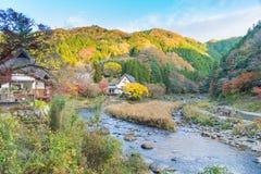 Härligt landskap i höst på Korankei, Japan Royaltyfri Fotografi