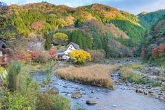Härligt landskap i höst på Korankei, Japan Arkivfoton