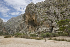 Härligt landskap i Majorca Arkivfoton