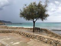 Härligt landskap i Majorca, Cala Bona Royaltyfria Foton