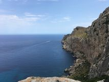 Härligt landskap i Mallorca fotografering för bildbyråer
