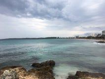 Härligt landskap i Mallorca Arkivfoto