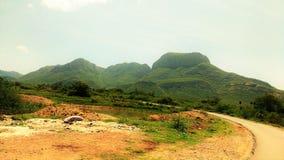 Härligt landskap i min by royaltyfria foton