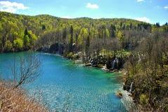 Härligt landskap i Plitvice sjöar Royaltyfria Foton