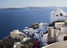 Härligt landskap i Santorini Royaltyfri Bild