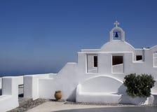 Härligt landskap i Santorini Royaltyfri Fotografi