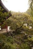 Härligt landskap i Suzhou Kina med pagoden royaltyfri foto