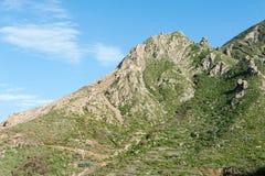 Härligt landskap i Tenerife Arkivfoto
