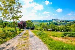 Härligt landskap i Tuscany Royaltyfri Fotografi